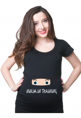 Ninja In Training  Maternity T-shirt Pregnancy Shirt Funny Maternity Shirt